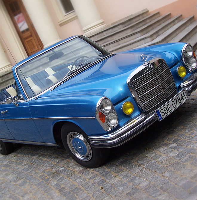 Mercedes W110 - auto do ślubu
